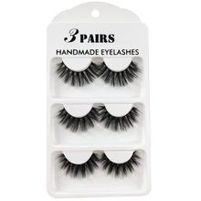 3pairs Faux 3D Mink Lashes Natural Long False Eyelashes Dramatic Fake Lashes Makeup Extension Eyelashes