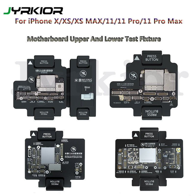 MiJing For IPhone X Xs/Xs Max/11/11 Pro Max Logic Board Function Testing Upper And Lower Main Board Tester Maintenance Fixture