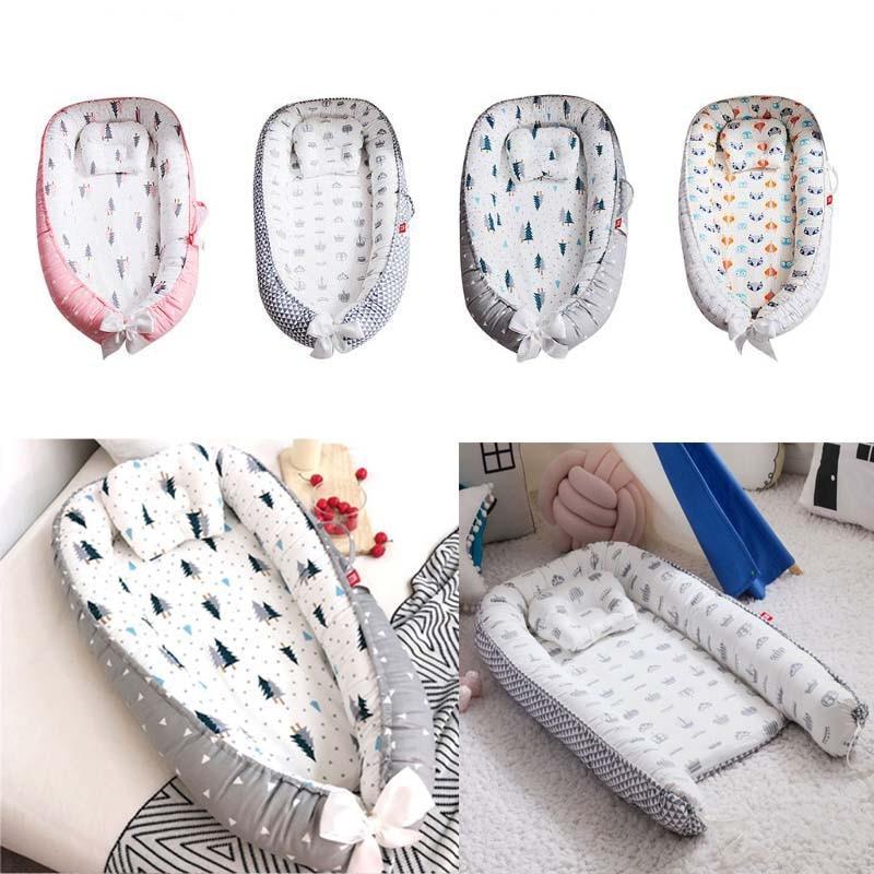 Baby Pod Nest Infant Reversible Travel Bed Soft Newborn Sleeping Cushion Crib Babynest Cot