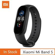 Xiaomi – Bracelet connecté, moniteur d'activité physique Mi Band 5, moniteur de fréquence cardiaque étanche, avec écran AMOLED de 1,1, pouce, 4 couleurs, connexion Bluetooth 5.0, original