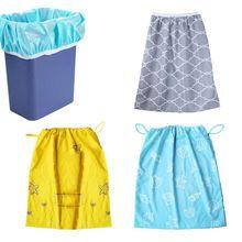 Детские подгузники влажная сумка Водонепроницаемый моющийся многоразовое ведро для подгузников вкладыш или влажный мешок для тканевых подгузников или грязного белья bebe