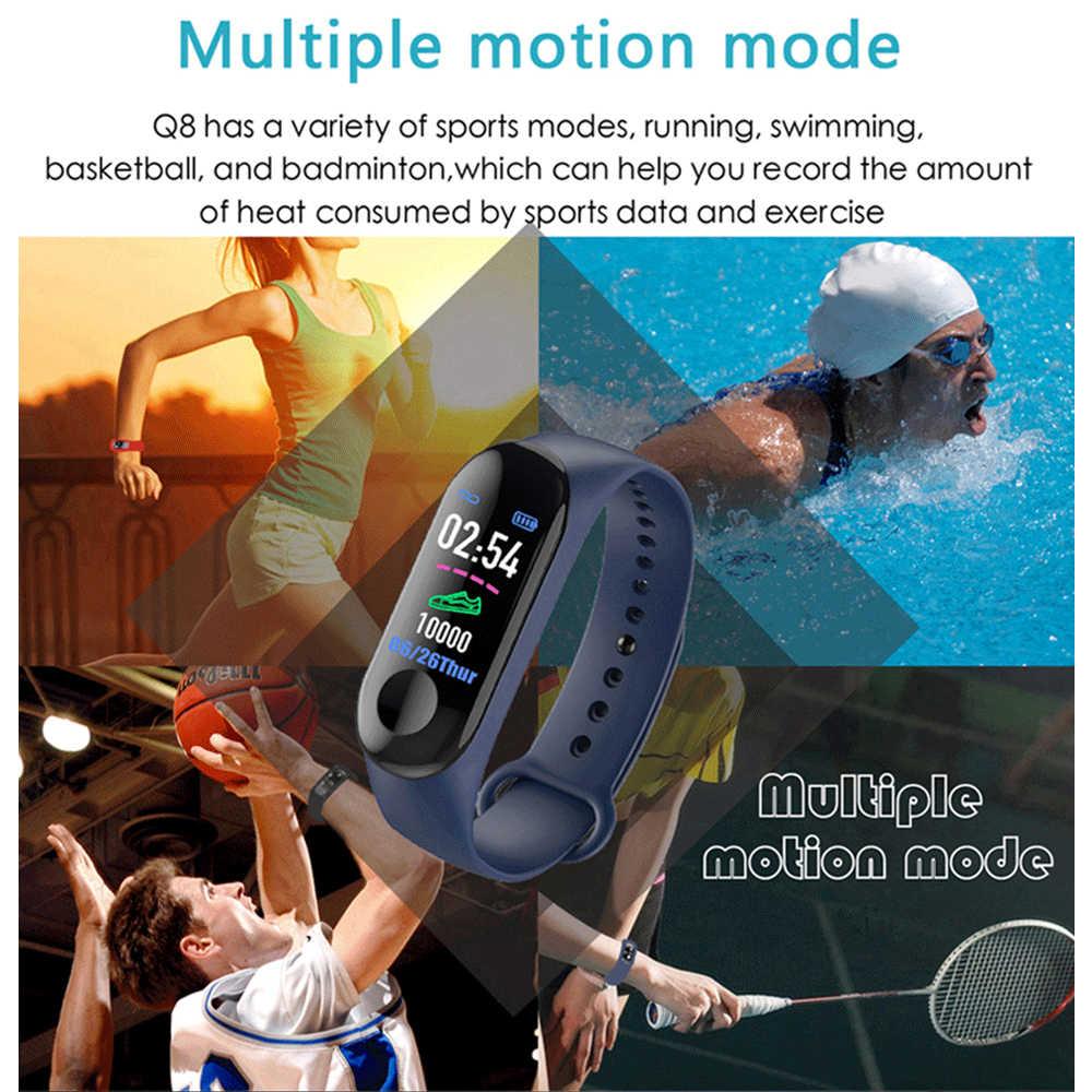 M3 Plus Men's Smart Watch Color Screen IP67 Waterproof Smart Watch Blood Pressure Heart Rate Activity Fitness Tracker Men Watch