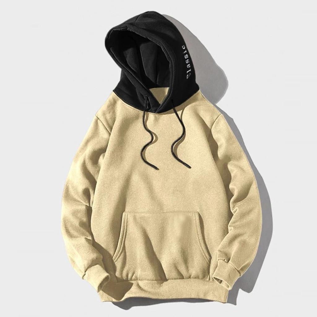 Fashion Patchwork Sweatshirt Men's Hoodies 2020 Autumn Loose Male Hooded Sweatshirts Men's Print Streetwear Tops Sudadera Hombre