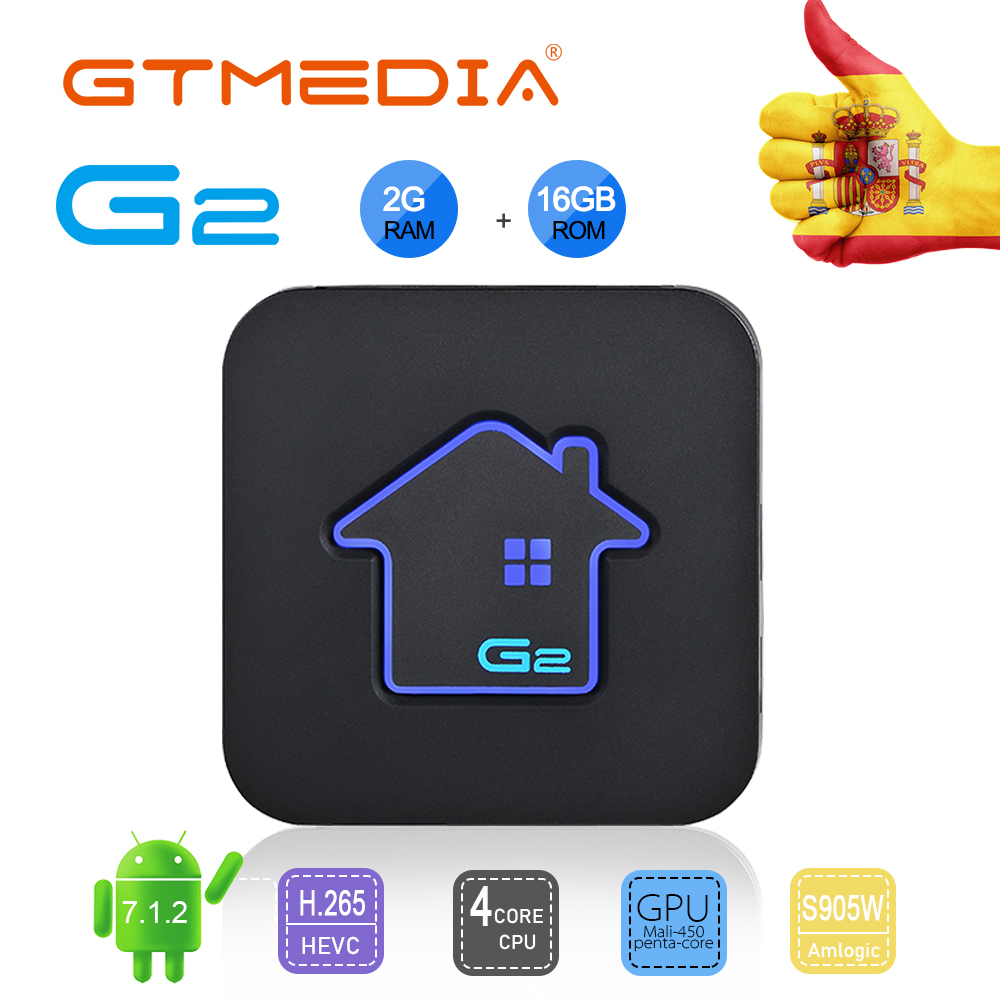 GTMEDIA G2 Smart TV Box Android 7.1 2GB 16GB Rockchip 4K Wifi Netflix Set top Box Media Player 2GB 16GB TV Box PK Android 9 BOX