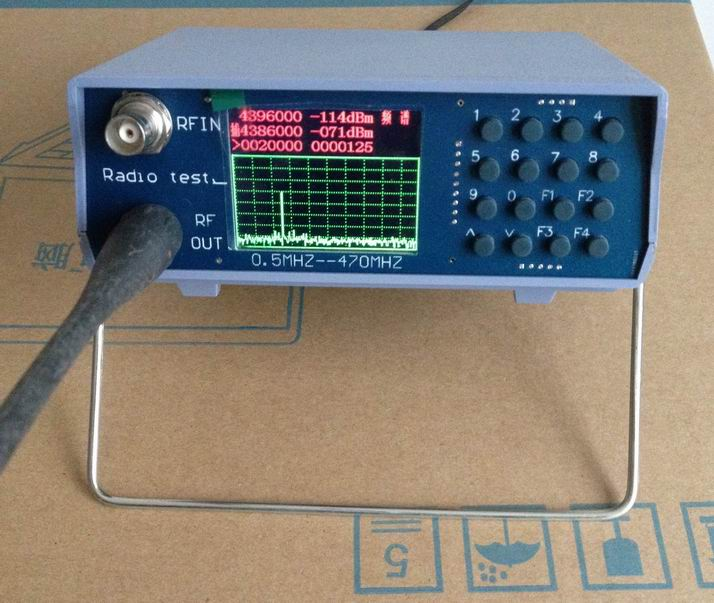 Free Shipping U/V UHF VHF Dual Band Spectrum Analyzer Simple Spectrum Analyzer With W/Tracking Source 136-173MHz / 400-470MHz