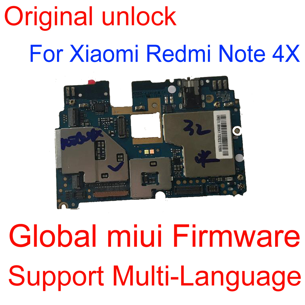 Unlocked Board Mainboard For <font><b>Xiaomi</b></font> <font><b>redmi</b></font> <font><b>note</b></font> <font><b>4X</b></font> <font><b>note</b></font> 4 Global Version 3gb + 32GB Snapdragon 625 <font><b>MotherBoard</b></font> note4X image