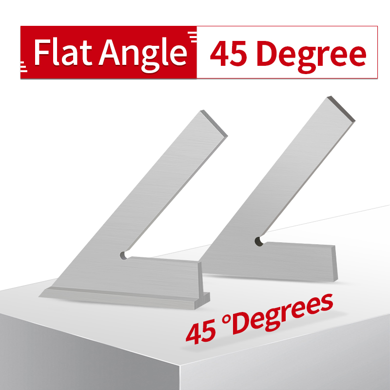 Flat Mouth Squads Type Angle Ruler Stainless Steel Flat With Seat Oblique Multi Angle Measuring Ruler Try Square Draw 45 Degree
