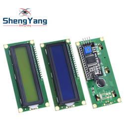 Шэньян ЖК-дисплей 1602 + I2C ЖК-дисплей 1602 Модуль синий зеленый экран IIC/I2C для arduino ЖК-дисплей 1602 адаптер пластины