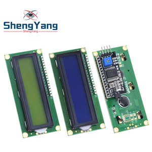 1PCS LCD module Blue Green screen IIC/I2C 1602 for arduino 1602 LCD UNO r3 mega2560 LCD1602(China)