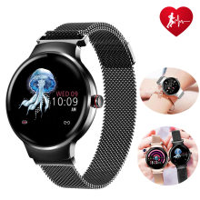 H5 Smart Watch Color Screen Sports Fitness Pedometer Heart Rate Blood Pressure Monitoring Multi-language Version Ladies Watches(China)