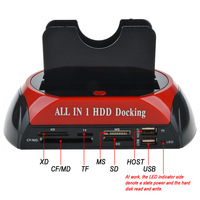 Desk USB 2.0 Double Dock HDD Docking Station 2.5inch 3.5inch SATA IDE Hub Enclosure Box For Desktop Laptop Computer PC Office