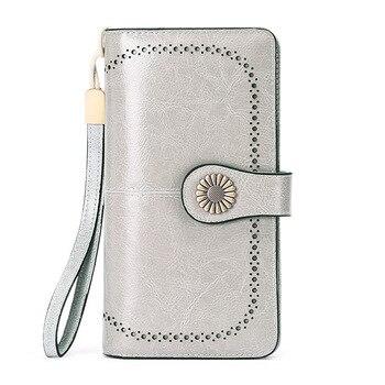 SENDEFN fashion women wallets long zipper large capacity clutch purse split leather female wallet