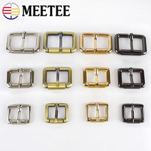 Meetee 5pcs 20-32mm Square D Pin Buckle DIY Leather Bag Supplies Adjustable Belt Straps Hardware Accessory BD307