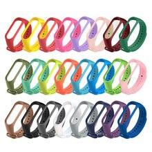 Цветной браслет для xiaomi mi band 4 3 спортивные часы с ремешком