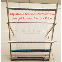 15%,Hand made looms DIY lifting Tapestry Loom Large frame knitting machine with Smooth surface Beech wooden 89*87cm