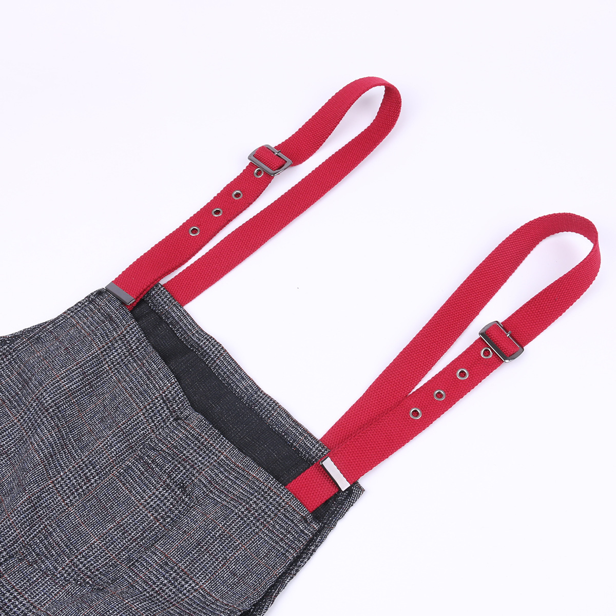 Suspender Pants Strap Canvas Strap Accessories Suspenders Non-Elasticity Eyelet Pin Buckle Adjustable Straps Sewing Accessories