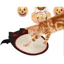 Cat Mat Pet Halloween Sima Pad Scratch Board Bat Shape Durable Sisal Fabric Supplies