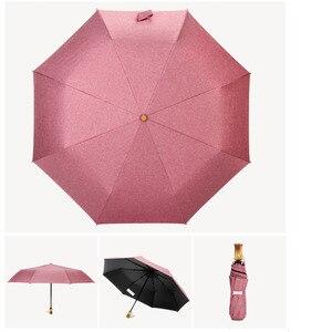 Image 4 - 2019 폭발 작고 상쾌한 세 배 우산 여성의 초경량 컬러 플라스틱 햇볕이 잘 드는 우산 우산