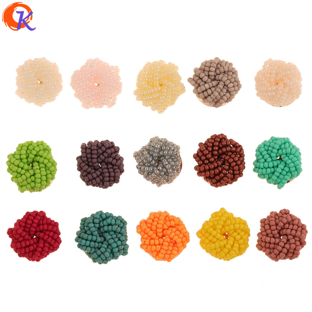 Cordial Design 20Pcs 20*20MM Jewelry Accessories/Hand Made/Seed Bead Charms/DIY/Jewelry Making/Flower Shape/Earring Findings