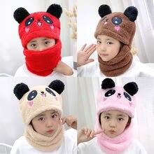 Дети для маленьких мальчиков и девочек зимний теплый плюш шапки