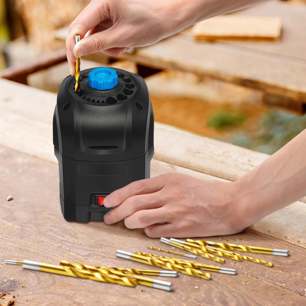 PROSTORMER 3 12mm Electric Drill Bit Sharpener Drill Grinding Machine 95W High Speed Household Grinding Tools-in Grinders from Tools on
