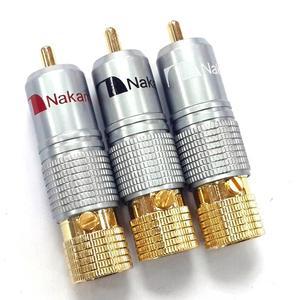 Image 5 - Haldane 8 adet/grup Nakamichi RCA fiş Ses Kablosu Konektörü 24K Altın Kaplama Vidalar Lehimleme Kilitleme Ses RCA fiş s