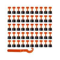 100Pcs Reusable Fliesen Nivellierung System Libelle Wand Boden Fliesen Leveler Mit 2Pc Schlüssel Fliesen Verlegung Anti Lippage
