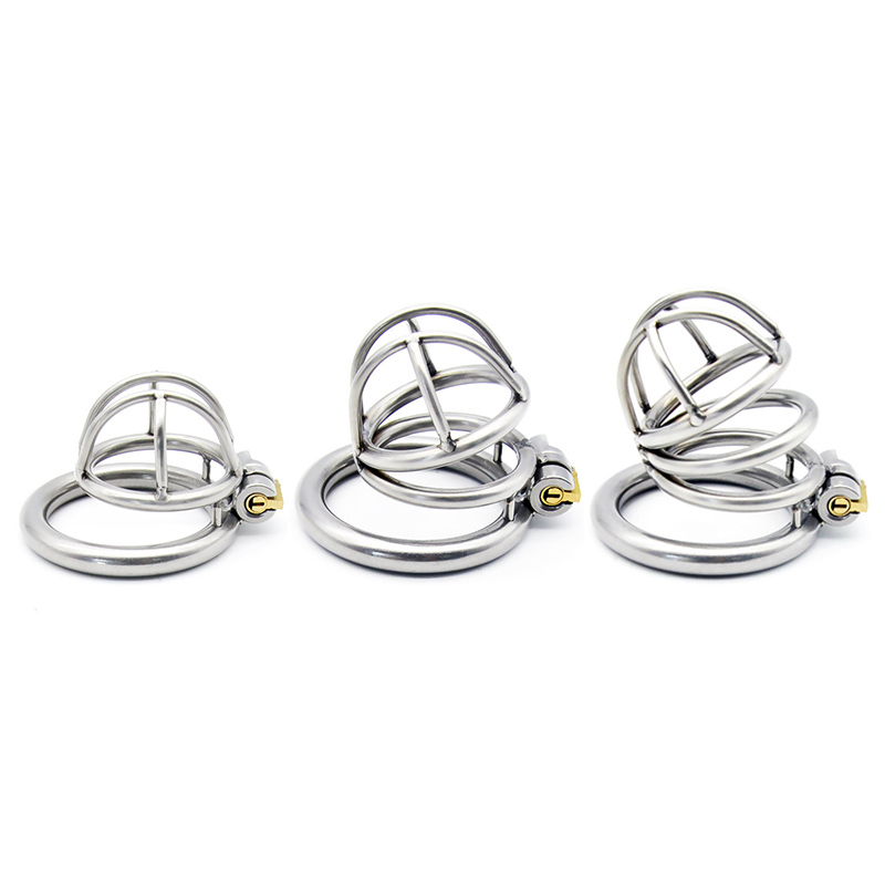 Stainless <font><b>Steel</b></font> 3 Size Bird Cock Cage Lock Adult Game Metal Male Chastity Belt Device <font><b>Penis</b></font> <font><b>Ring</b></font> Sex Toys for Men image