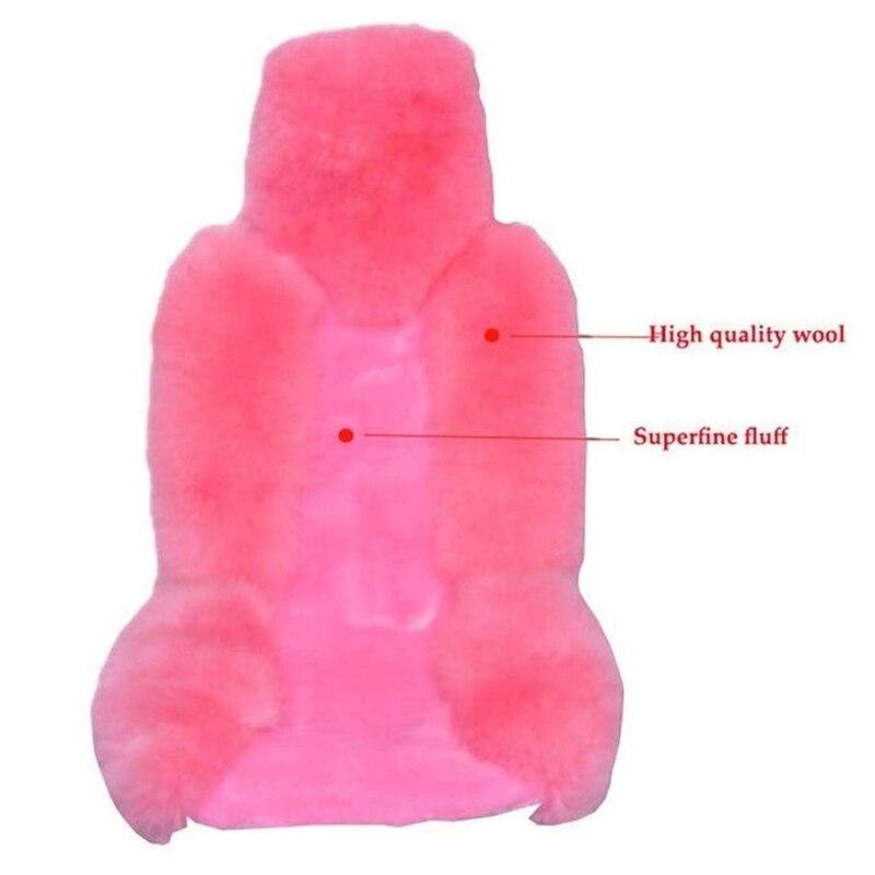 Lã capa de assento do carro inverno quente automóveis almofada de pele natural australiana pele carneiro assentos de automóvel capa carros acessórios de pele - 3