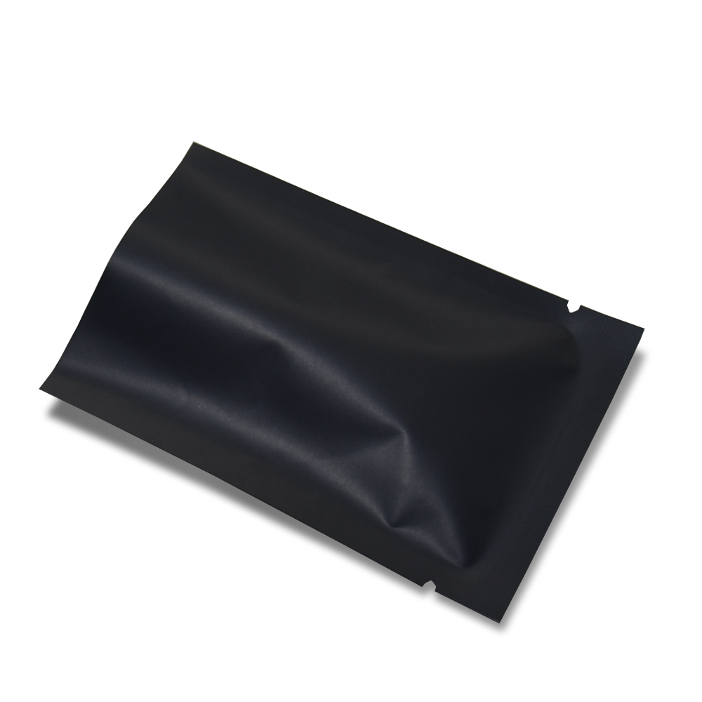 10x15cm 200pcs lot Heat Seal Matte Black Aluminum Foil Vacuum Food Storage Bag Nut Snacks Bakery Open Top Mylar Pack Pouches in Storage Bags from Home Garden