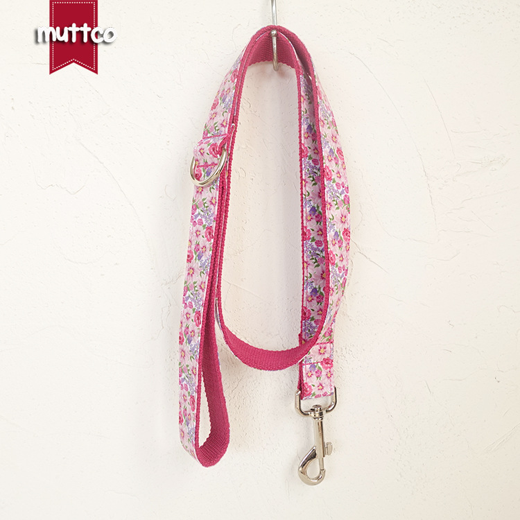 Floral Decorative Pattern Pet Traction Rope Large Dog Pet Traction Rope Red Flower Dog Hand Holding Rope