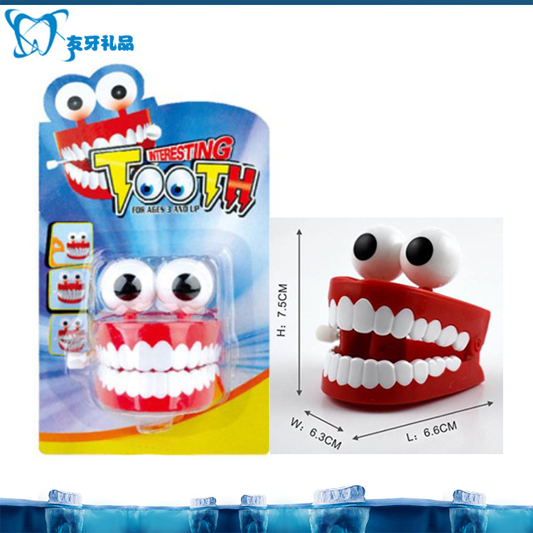 Wealthy Winding With Eyes Teeth Jumping Teeth Spring Strange New Toy Children Fun To Play Gift