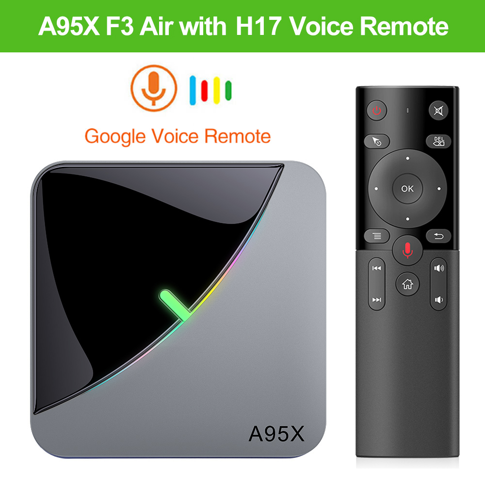 A95X F3 Air Amlogic S905X3 Android 9.0 TV BOX A95X F3 RGB Light