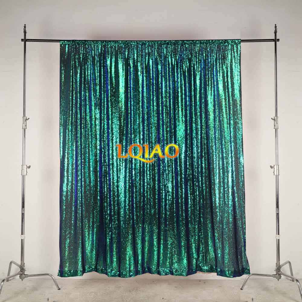 LQIAO Glitz 10x10ft Silver Shimmer Sequin Fabric Photography Backdrop 300x310cm Pocket 10x10FT Gold Sequin Photo Booth Background Curtain Panel for Party Decoration