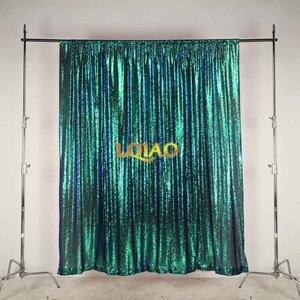 Image 4 - Lqiao 10x10FT Fuchsia Goud Zilver Sequin Achtergrond Trouwfoto Booth Achtergronden Voor Fotografie Studio/Party/Kerst Decor