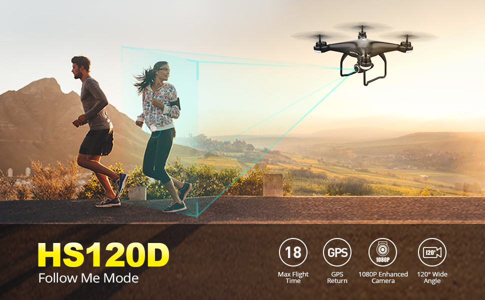 Human - Holy Stone HS120D GPS Drone FPV 1080p HD Camera Professional Wifi RC Drones Selfie Follow Me Quadcopter