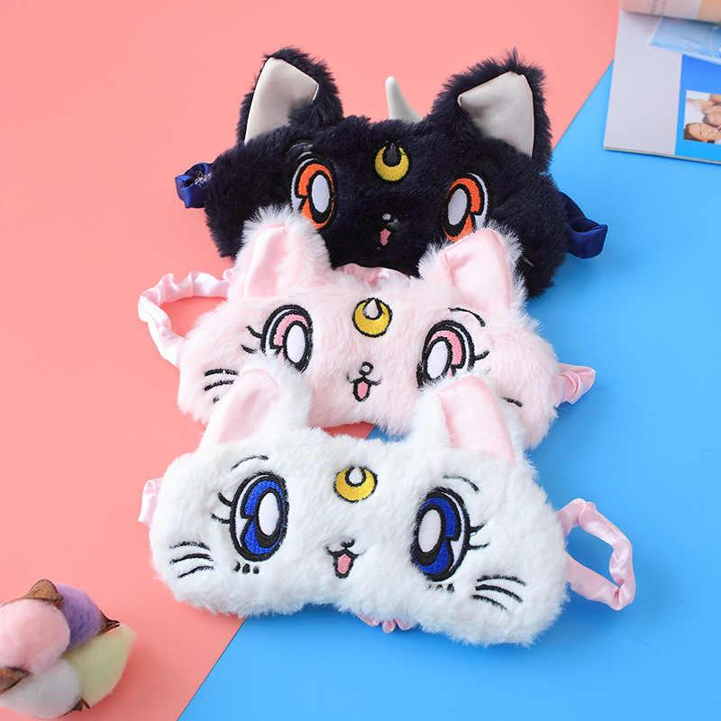 Nette 3D Auge Maske Plüsch Weich Gepolsterte Schlaf Eyeshade Tier Katze Auge Rest Entspannen stofftier Augenbinde Auge Spielzeug