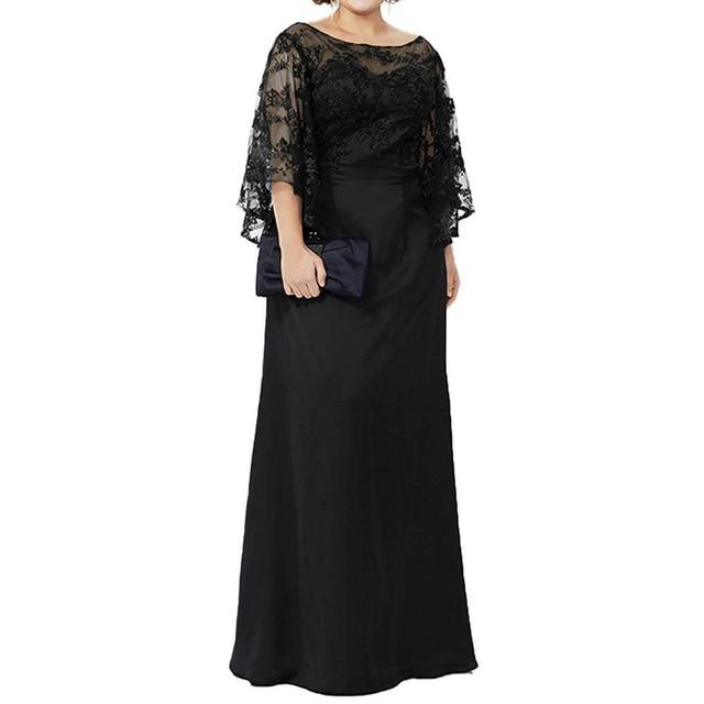 Blue Lace Top Plus Size Mother of the Bride Dress 3