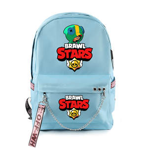 Birthday-Toys Backpack Schoolbag Shelly Gifts Game-Stars MORTIS Brawl Leon PRIMO Kids