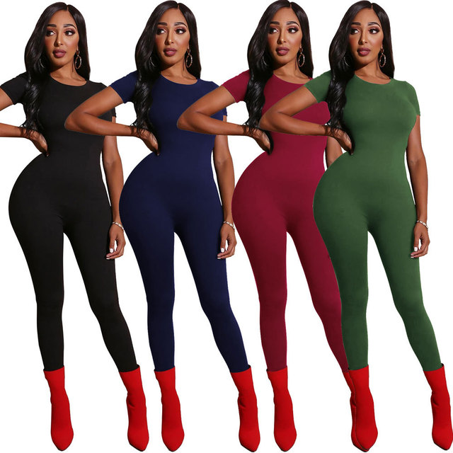 Summer Sexy Bodycon Rompers Womens Jumpsuit Women Clothes Party Night Club Playsuits Ladies Casual Overalls Streetwear Black 2