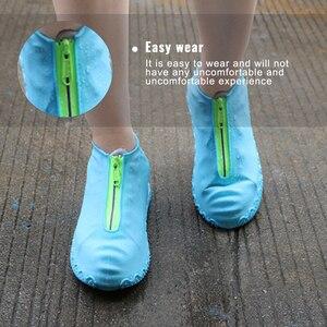 Image 4 - 2020春のファッション再利用可能な靴カバー防水ジッパーカバー靴男性/女性雨靴カバー防水