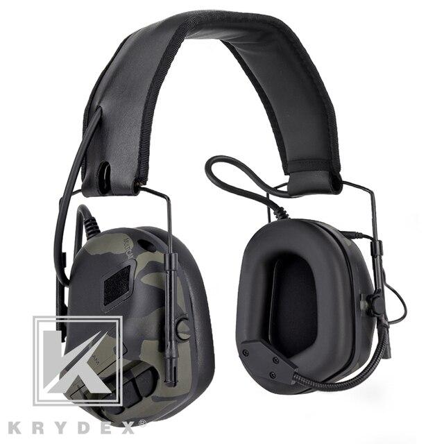 Casque tactique KRYDEX avec Micphone Peltor réduction du bruit détachable prise de son Communication casque électronique MCBK