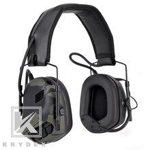 سماعة رأس KRYDEX التكتيكية مع ميكروفون بلتور قابل للفصل للحد من الضوضاء صوت التقاط الاتصالات سماعة رأس إلكترونية MCBK