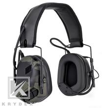 Krydex戦術micphoneでpeltor取り外し可能なノイズリダクションサウンド通信電子ヘッドホンmcbk