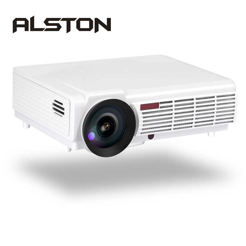 ALSTON LED 96/96W projecteur LED soutien 1080P 4500 Lumens Double HIFI haut-parleurs en option Android 6.0 WiFi Bluetooth