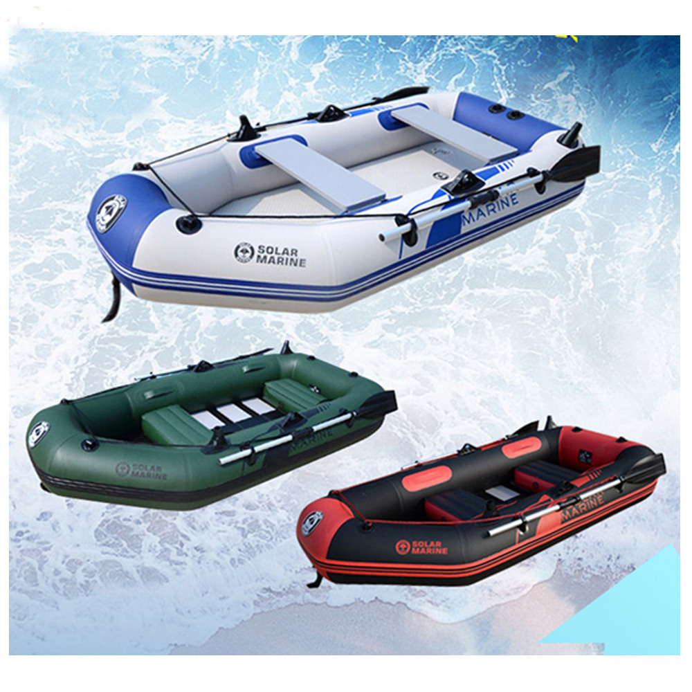 230CM Length 0.7MM PVC Material Rowing Inflatables Boat Fishing Inflatable Laminated Wear Resistant