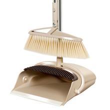 Vassoura durável dustpan terno plástico pp vassoura combinação doméstica dobra preguiçoso varrer o chão à prova de vento limpo dustless helper conjuntos