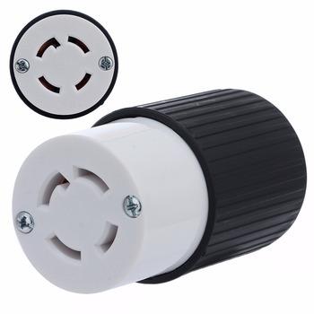 1pc 30 amperów blokady skrętu 4-elektryczne z drutu kobiet gniazdo wtyczki 125 250V materiały elektryczne Generator gniazdo tanie i dobre opinie Podłącz Electrical Female Plug Other