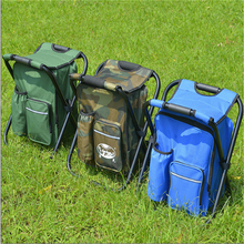 Outdoor Folding Chair Camping Fishing Chair Stool Portable Backpack Cooler Insulated Picnic Tools Bag Hiking Seat Table Bag folding portable outdoor fishing chair backpack playing climbing outdoor portable folding stool backpack high quality