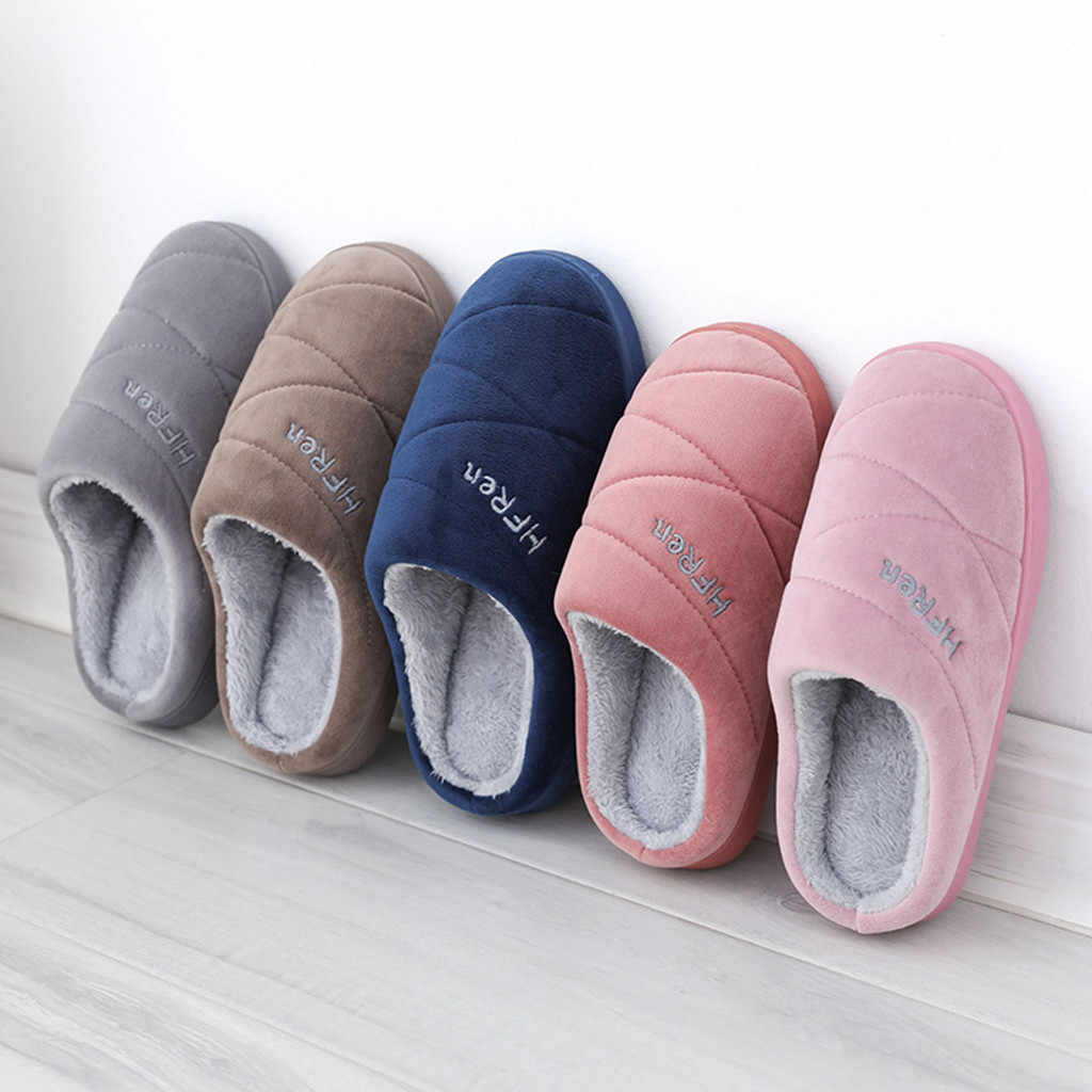Kadınlar kış sıcak kürk terlik erkek kadın erkek kız terlik ev ayakkabıları düz topuk ev kapalı yatak odası Zapatilla Mujer # L20